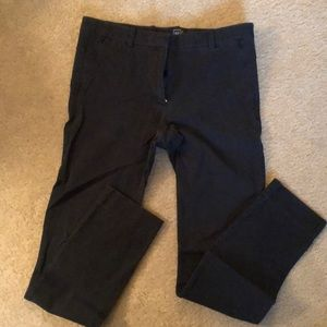 Gap Bi-Stretch Stovepipe Skinny Black Pants Sz 10R